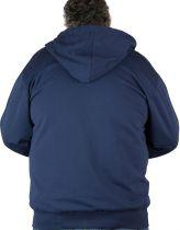 Sweat Zip à Capuche Manches Longues Bleu Marine 3XL à 8XL Maxfort