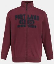 Sweat Zip Bordeaux JP1880 du 3XL au 7XL