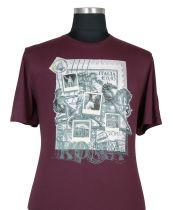 T-shirt à Manches Courtes  Bordeaux du 2XL au 8XL Cotton Valley
