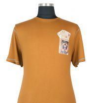 T-shirt à Manches Courtes  Brun Orangé du 2XL au 8XL Cotton Valley