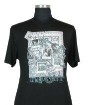 T-shirt à Manches Courtes  Noir du 2XL au 8XL Cotton Valley