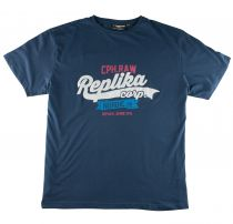 T-shirt à Manches Courtes Bleu Marine du 2XL au 8XL All Size