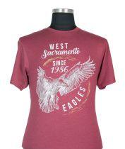 T-shirt à Manches Courtes Bordeaux du 2XL au 8XL Kam