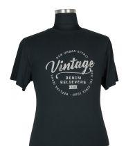 T-shirt à Manches Courtes Grande Taille Noir du 2XL au 8XL All Size