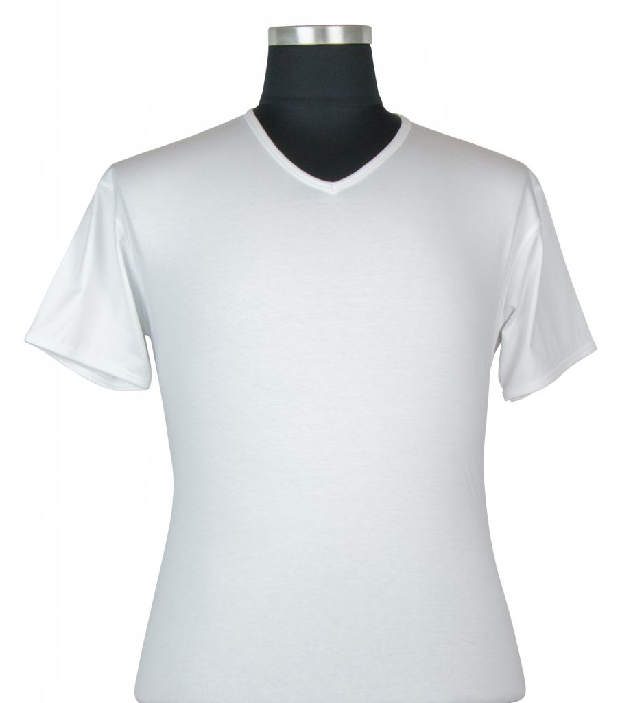 T-shirt à Manches Courtes Stretch Blanc du 2XL au 8XL Kitaro