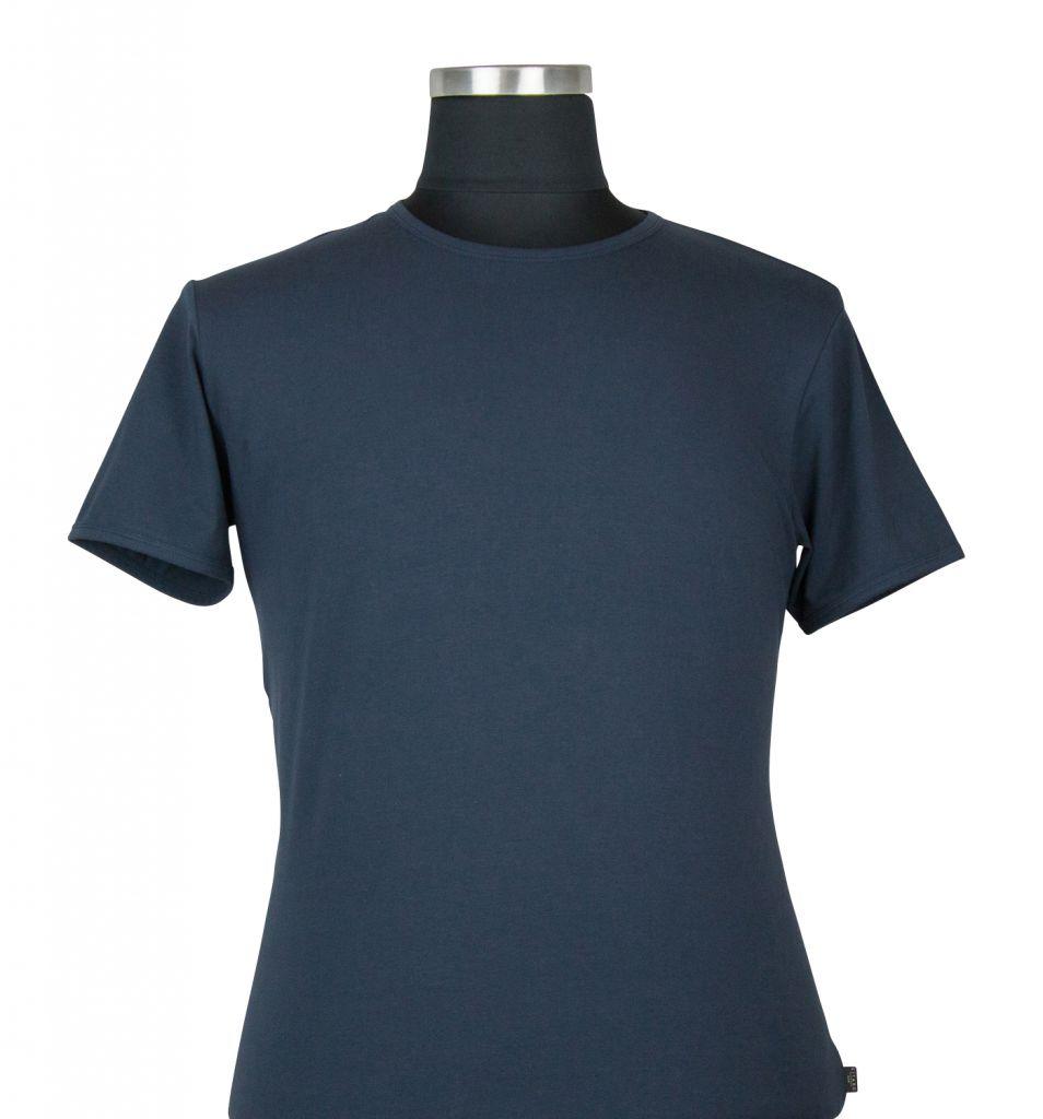 T-shirt à Manches Courtes Stretch Bleu Marine du 2XL au 8XL Kitaro