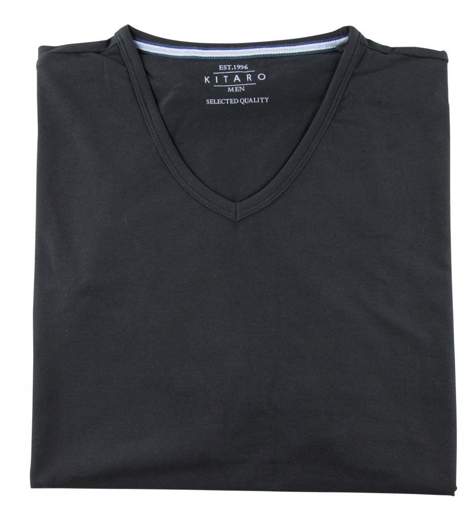 T-shirt à Manches Courtes Stretch Noir du 2XL au 8XL Kitaro
