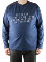 T-Shirt à Manches Longues Bleu Marine All Size