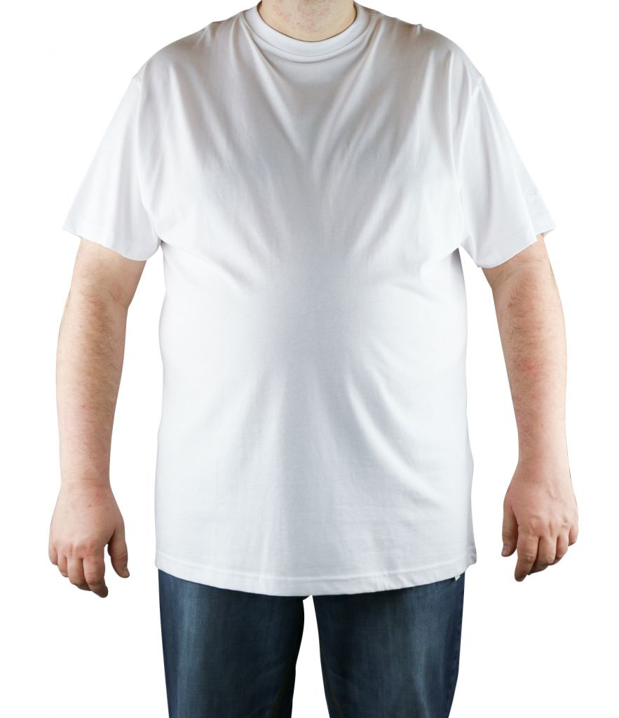 T-Shirt Blanc Manches Courtes Col Rond 100% Cotton All Size