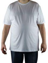 T-Shirt Blanc Manches Courtes Col Rond Kitaro