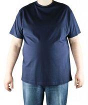 T-Shirt Bleu Marine Manches Courtes Col Rond 100% Cotton All Size
