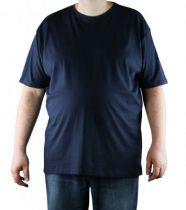 T-Shirt Bleu Marine Manches Courtes Col Rond Kitaro