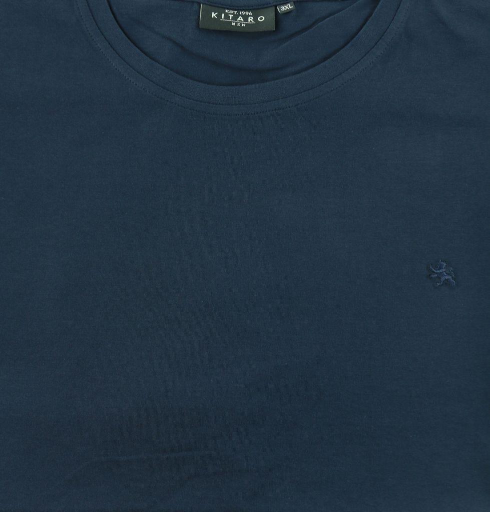 Kitaro 68901-210 Tshirt col rond bleu marine-0942