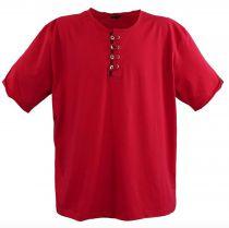 T-Shirt Col Tunisien à Manches Courtes Rouge Lavecchia du 3XL au 8XL