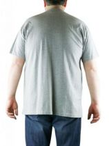 T-Shirt Gris Manches Courtes Col Rond 100% Cotton All Size