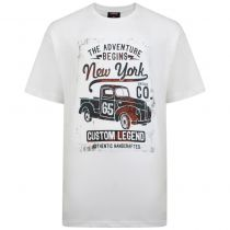 T-Shirt Manches Courtes Blanc Espionage du 2XL au 8XL