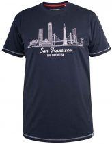 T-Shirt Manches Courtes Bleu Marine Duke Du 3XL au 6XL