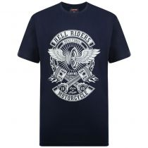 T-Shirt Manches Courtes Bleu Marine Espionage du 2XL au 8XL