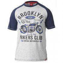 T-shirt Manches Courtes Gris Duke du 3XL au 6XL