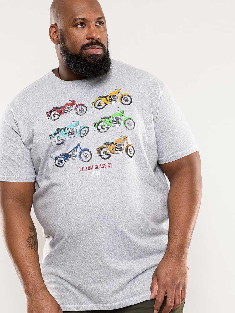 T-Shirt Manches Courtes Gris Duke Du 3XL au 8XL