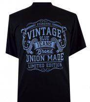 T-Shirt Manches Courtes Noir du 2XL  au 8XL Espionage