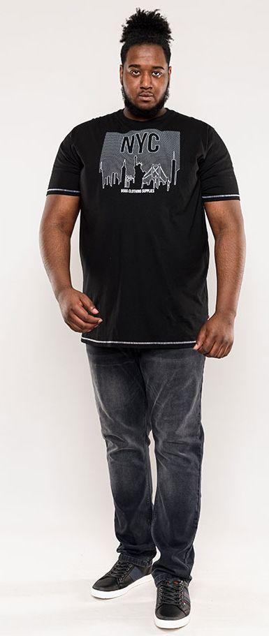 T-Shirt Manches Courtes Noir Duke Du 3XL au 6XL