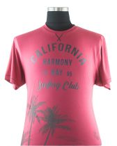 T-shirt Manches Courtes Rouge Kam Jeanswear du 2XL au 8XL