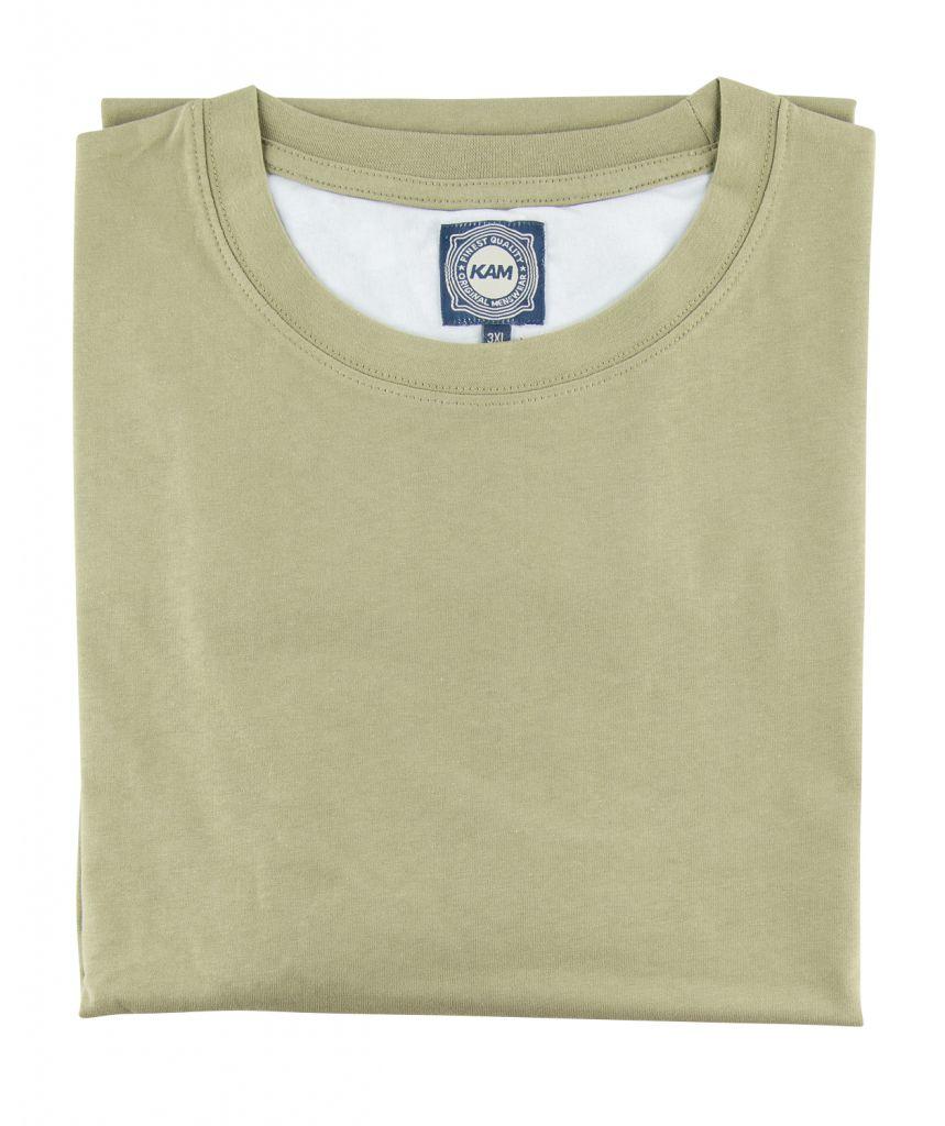 T-Shirt Manches Courtes Vert Olive Kam Jeans du 2XL au 8XL