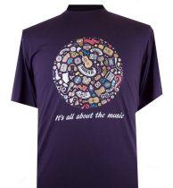 T-Shirt Manches Courtes Violet du 2XL  au 8XL Espionage