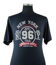 T-shirt Manches Longues Bleu Marine du 2XL au 12XL Adamo
