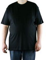 T-shirt noir manches courtes col rond Kitaro