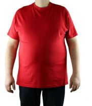 T-Shirt Rouge Manches Courtes Col Rond 100% Coton All Size