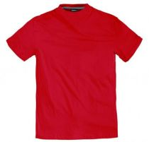 T-Shirt Rouge Manches Courtes Col Rond 100% Cotton All Size
