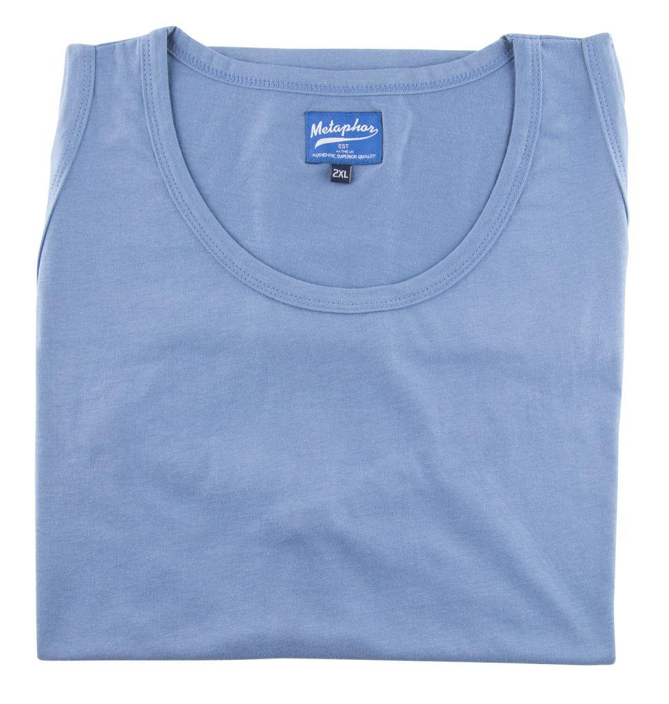 T-Shirt Sans Manches Bleu Cotton Valley du 2XL au 8XL