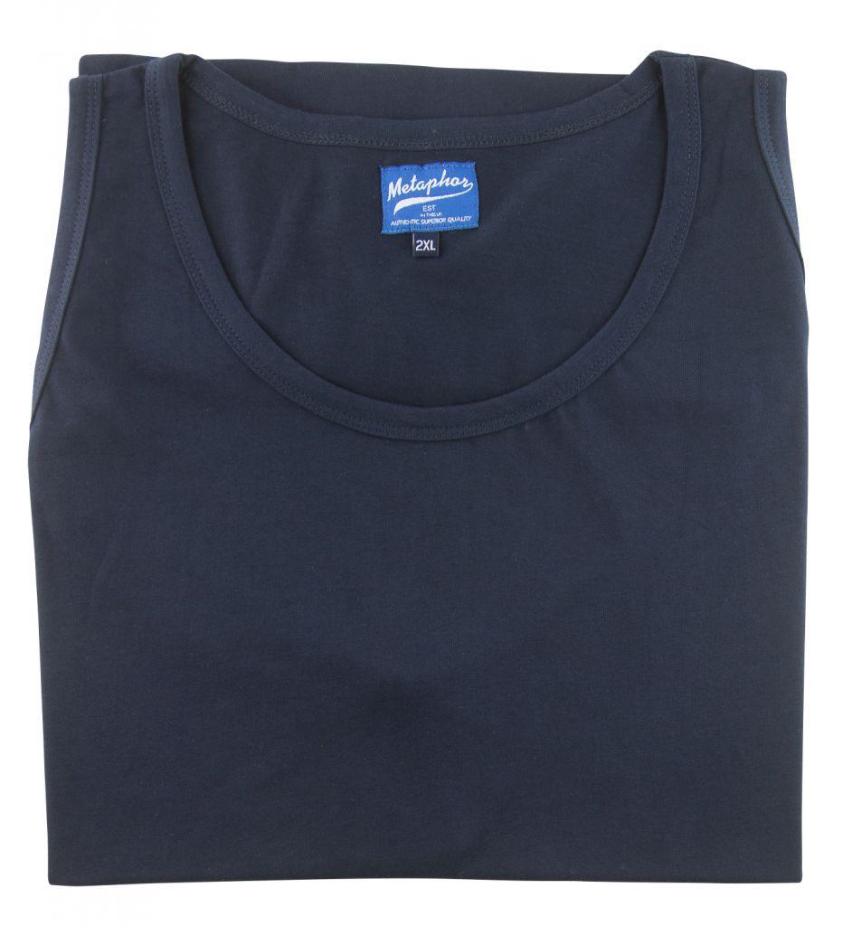 T-Shirt Sans Manches Bleu Marine Cotton Valley du 2XL au 8XL