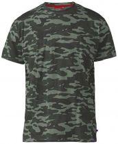 Tshirt Camouflage Kaki Gaston  du 2XL au 8XL