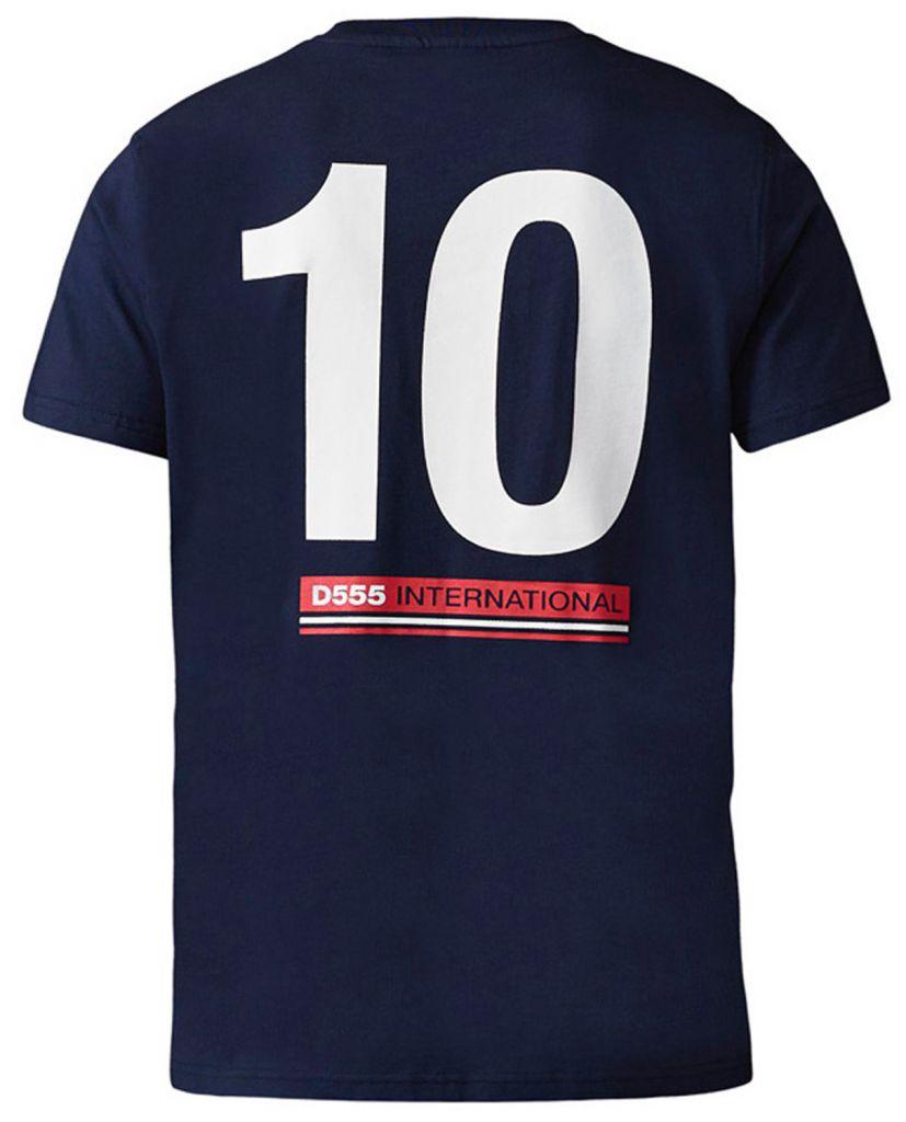 Tshirt England Manches Courtes Bleu Marine Duke du 3XL au 6XL
