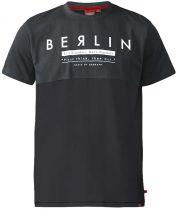 Tshirt Imprimé Berlin Manches Courtes Gris Duke du 3XL au 6XL