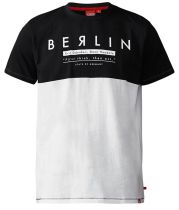 Tshirt Imprimé Berlin Manches Courtes Noir Duke du 3XL au 6XL