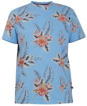 Tshirt Imprimé Fleurs Manches Courtes Bleu Duke du 3XL au 6XL