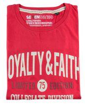 Tshirt Manches Courte Rouge Seven Series du 2XL  au 5XL