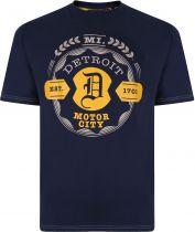 Tshirt Manches Courtes  Bleu Marine Kam du 2XL au 8XL