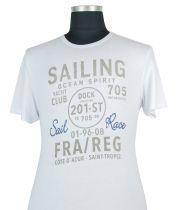 Tshirt Manches Courtes Blanc Kitaro du 2XL au 8XL