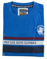 Tshirt Manches Courtes Bleu  Santa Monica du 2XL  au 6XL