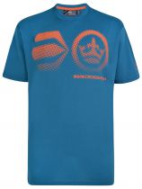 Tshirt Manches Courtes Bleu Cross Hatch du 3XL au 6XL