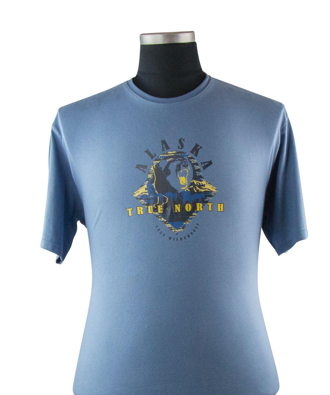 Tshirt Manches Courtes Bleu du 2XL au 8XL Cotton Valley