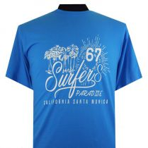 Tshirt Manches Courtes Bleu Espionage du 2XL au 8XL