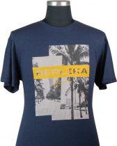 Tshirt Manches Courtes Bleu Marine All Size du 2XL au 8XL