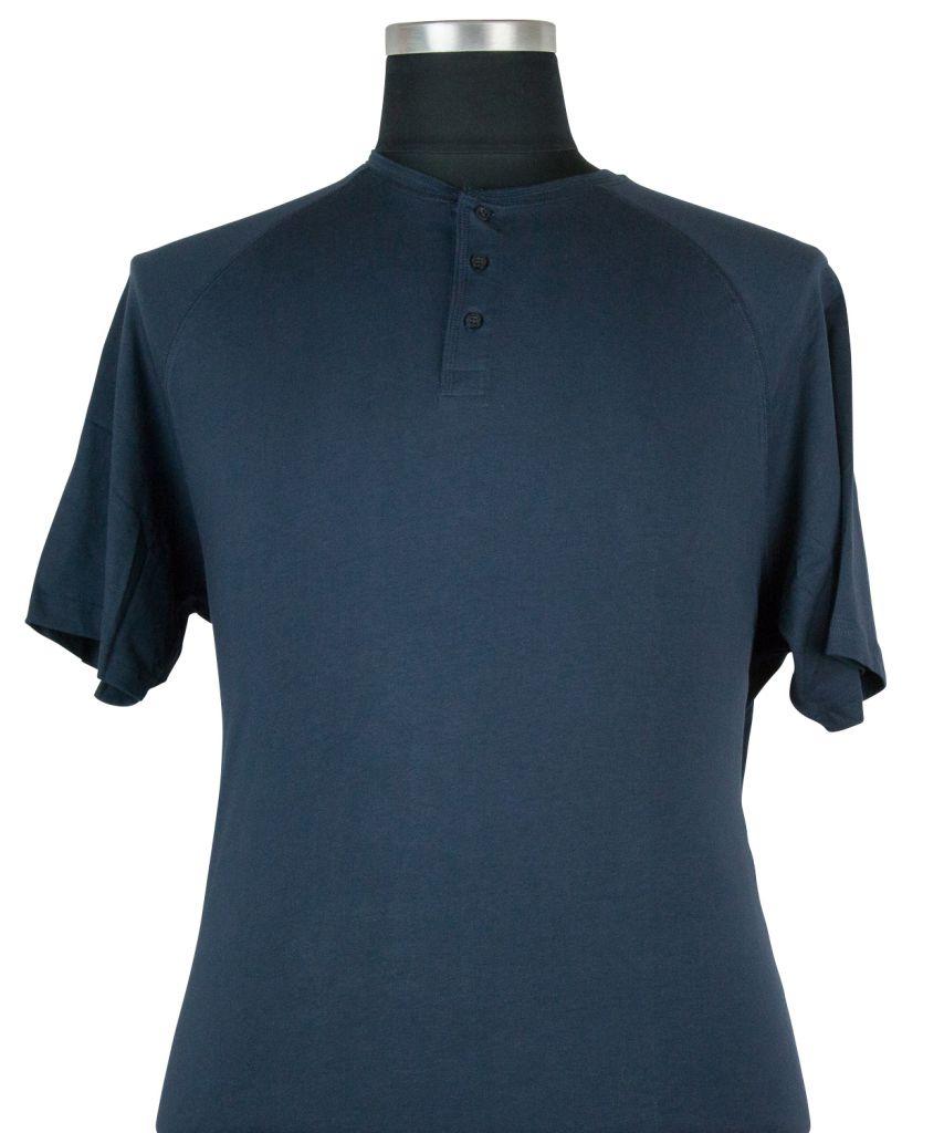 Tshirt Manches Courtes Bleu Marine Cotton Valley du 2XL au 8XL