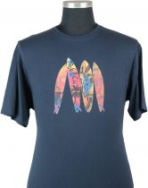 Tshirt Manches Courtes Bleu Marine Cotton Valley du 2XL au 8XL